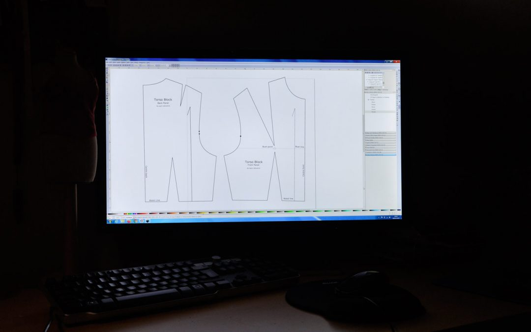Introduction to making digital sewing patterns with Inkscape video